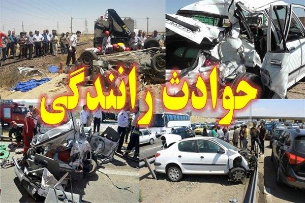 5 کشته و زخمی بر اثر تصادف چند دستگاه خودرو در اتوبان کرج