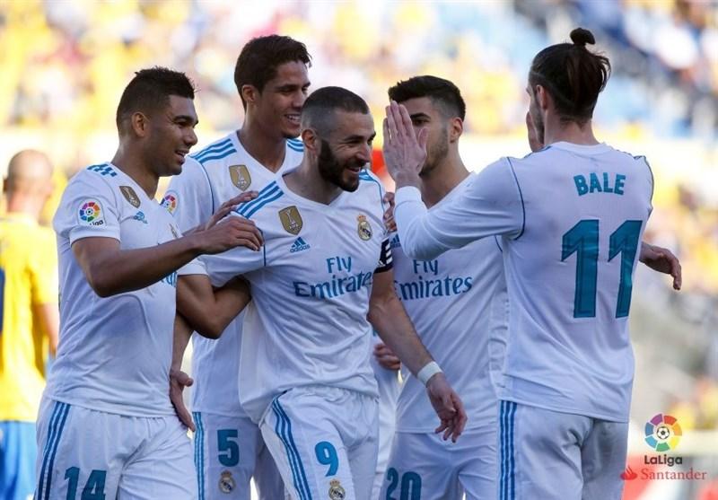 برتری رئال مادرید مقابل لاس پالماس/ شاگردان زیدان به اتلتیکو نزدیک شدند