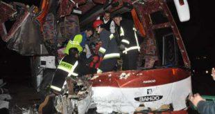 واژگونی اتوبوس در جاده چابهار - زاهدان/ ۶ نفر کشته و ۳ نفر مجروح شدند