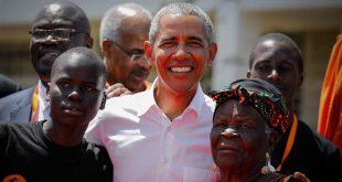 اوباما در روستای زادگاه پدری در کنیا (+عکس)