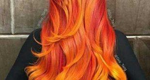 رنگ مو آتشی، جدیدترین مد رنگ مو برای تابستان