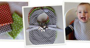 آموزش تصویری دوخت پیشبند نوزادی