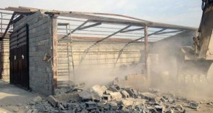 درگیری با ماموران شهرداری در اهواز/ لودر به آتش کشیده شد