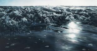 نقاشیهای شگفتانگیزی از یخ و آب با مداد شمعی (+تصاویر)