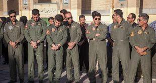 تشییع خلبان حادثه سقوط اف ۵ در دزفول