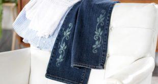 نحوه طراحی روی شلوار جین با سفید کننده