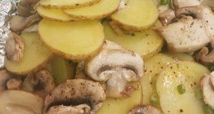 طرز تهیه قارچ و سیب زمینی با فویل