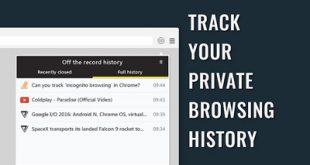 ذخیره تاریخچه وبگردی در مرور مخفیانه