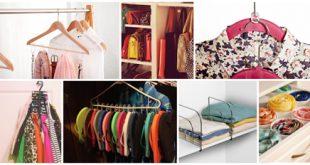 ایده هایی برای چیدمان کیف و کفش و لباس در کمد