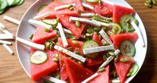 طرز تهیه سالاد هندوانه و خیار