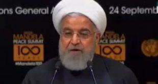 روحانی در اجلاس صلح: دولتمردان بزرگ بهجای دیوار، پل میسازند