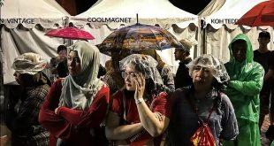 بارش شدید باران در آخرین روز بازیهای آسیایی