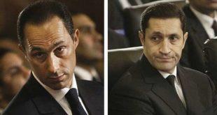 آزادی دو پسر حسنی مبارک با قید وثیقه 100 هزار پوندی