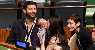 خانم نخستوزیر با نوزادش به سازمان ملل رفت!