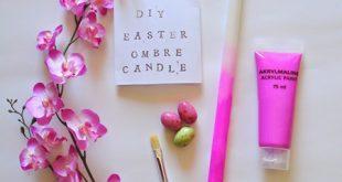 آموزش رنگ آمیزی شمع های ساده