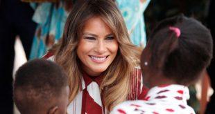 سفر تبلیغاتی همسر ترامپ به آفریقا (+تصاویر)