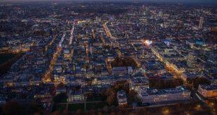 تصاویر هوایی از شب های لندن