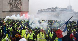 ادامه اعتراضات جلیقهزردها در فرانسه/ ۱۰۷ نفر بازداشت شدند