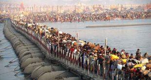 مراسم مذهبی هندوها با ۱۰۰ میلیون نفر شرکت کننده! (+تصاویر)