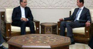 رایزنی دستیار ارشد ظریف با بشار اسد در مورد آخرین تحولات سوریه