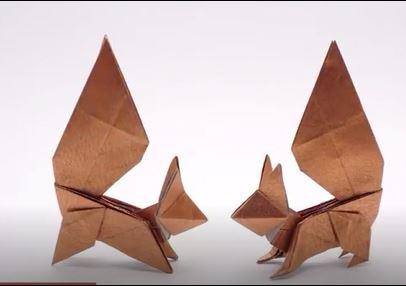 کاردستی سنجاب اوریگامی