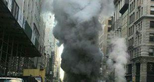 انفجار لولههای زیرزمینی بخار در نیویورک