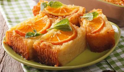 طرز تهیه کیک پرتقال یونانی
