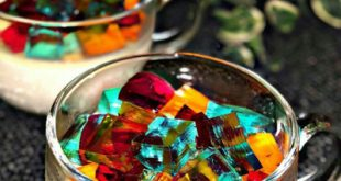 طرز تهیه پاناکوتا با ژله خرده شیشه