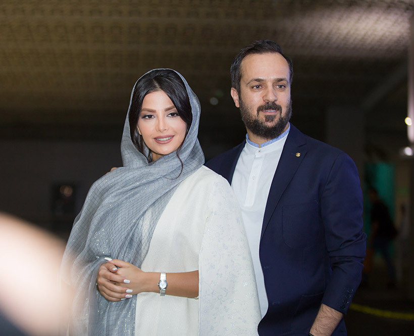 گزارش تصویری اکران خصوصی فیلم «راه رفتن روی سیم» با حضور احمد مهرانفر و همسرش