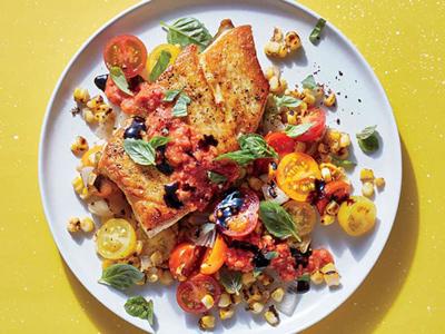 طرز تهیه ماهی با سبزیجات تابستانی