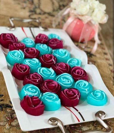 طرز تهیه ژله گل رز