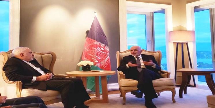 ظریف با اشرف غنی دیدار کرد