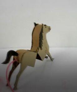خرید کلیپ آموزشی ساخت اسب متحرک با مقوا برای کودکان