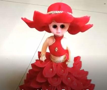 خرید فیلم آموزشی ساخت عروسک زیبا با دامن قرمز