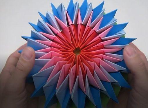 ساخت ستاره اوریگامی