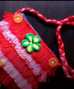 آموزش ساخت کیف دستی پشمی،کیف پول با کمترین امکانات