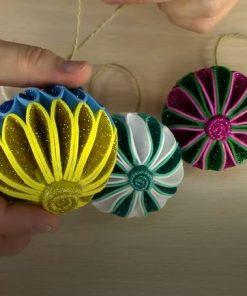 ساخت توپ زیبای رنگارنگ