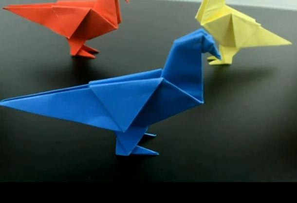 آموزش اوریگامی کبوتر