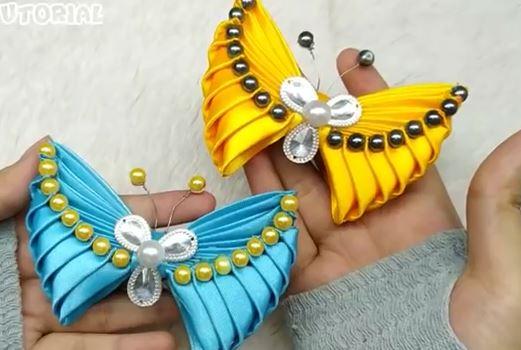 ساخت پروانه زیبا با روبان