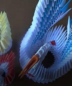 آموزش ساخت اوریگامی قو