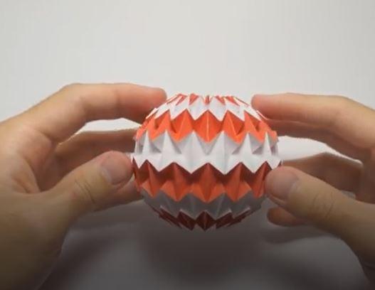 اوریگامی توپ جادویی