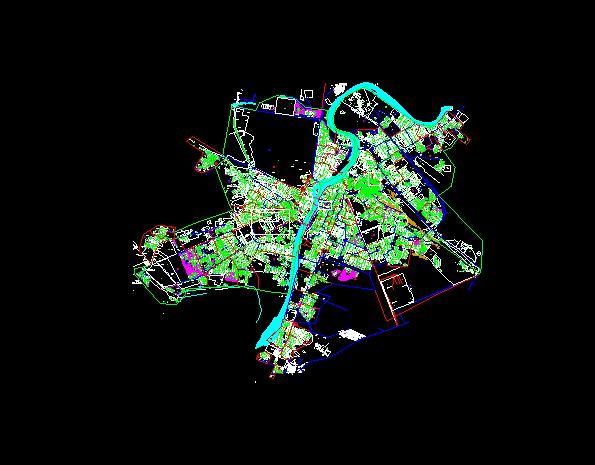 نقشه اتوکد شهر اهواز
