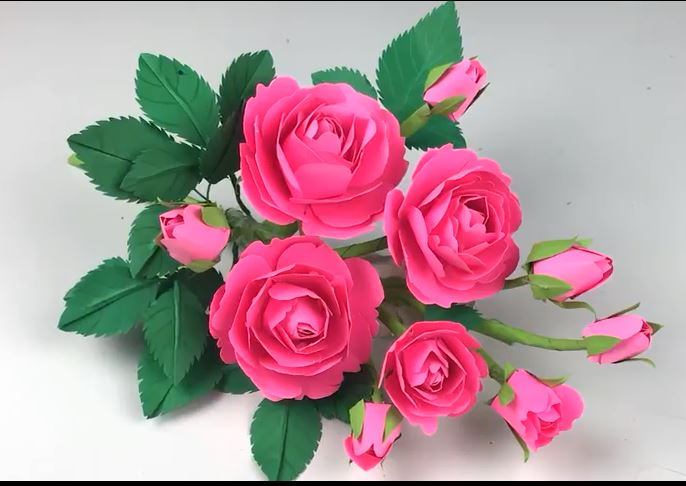 ساخت گل رز کاغذی