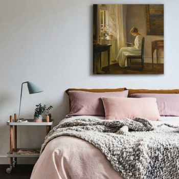 Photo of تابلو بوم طرح زنی در خانه کد ۱۴